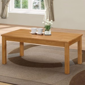 New York Wooden Coffee Table In Natural Oak