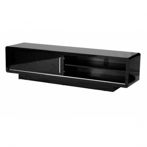 Newham Wooden TV Stand In Black High Gloss