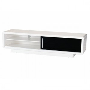 Newham Wooden TV Stand In White High Gloss