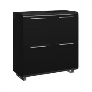 Newline Small Sideboard In Black High Gloss With 4 Doors