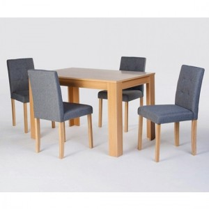 Norfolk Wooden Dining Set In Oak With 4 Chairs