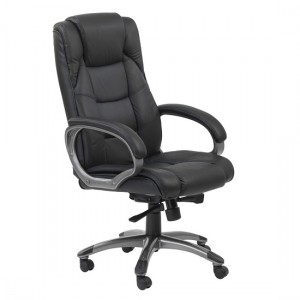 Northland High Back Soft Feel Leather Executive Office Chair In Black