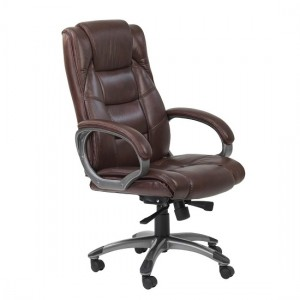 Northland High Back Soft Feel Leather Executive Office Chair In Brown