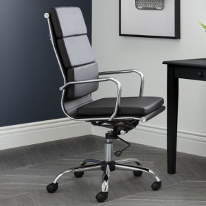 Norton Faux Leather Home And Office Chair In Black