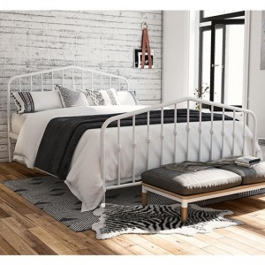 Novogratz Bushwick Metal King Size Bed In White