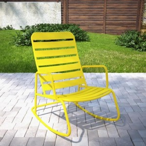 Novogratz Roberta Rocking Chair In Yellow