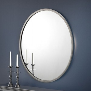 Octave Round Wall Mirror In Pewter Effect