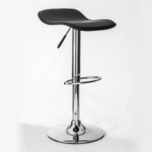 Ohio Faux Leather Bar Stool In Grey