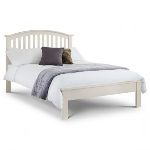 Olivia Wooden Double Bed In Stone White