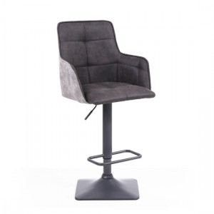 Orion Suede Effect Bar Stool In Dark Grey