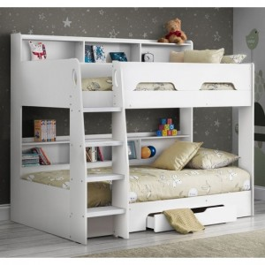 Orion Wooden Bunk Bed In Pure White