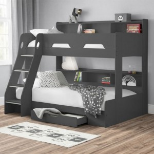 Orion Wooden Triple Sleeper Bunk Bed In Anthracite