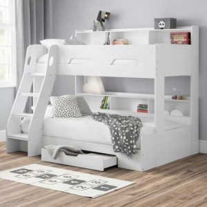 Orion Wooden Triple Sleeper Bunk Bed In White