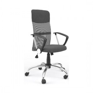 Orlando Mesh Fabric Seat Office Chair In Grey