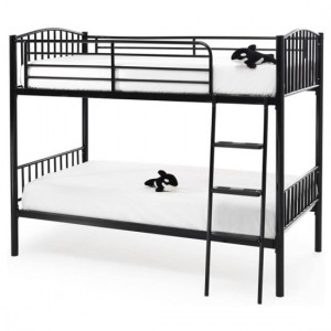 Oslo Metal Single Twin Bunk Bed In Black