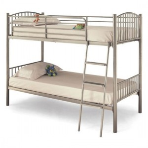 Oslo Metal Single Twin Bunk Bed In Silver