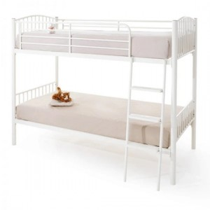 Oslo Metal Single Twin Bunk Bed In White