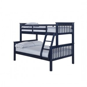 Otto Trio Wooden Bunk Bed In Navy
