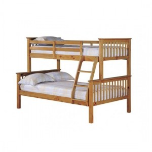 Otto Trio Wooden Bunk Bed In Pine