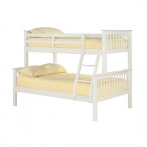 Otto Trio Wooden Bunk Bed In White