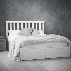 Oxford Wooden Double Bed In White