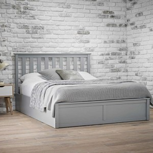 Oxford Wooden King Size Bed In Grey
