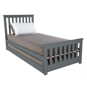 Oxford Wooden Single Bed With Guest Bed In Grey