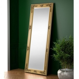 Palais Large Lean-to Dress Mirror In Gold Effect