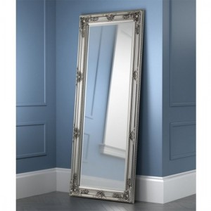 Palais Large Lean-to Dress Mirror In Pewter Effect