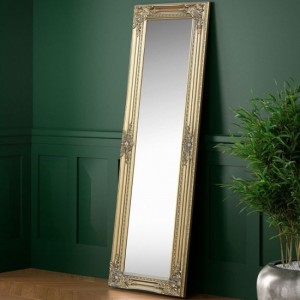 Palais Small Lean-to Dress Mirror In Gold Effect