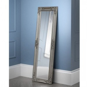 Palais Small Lean-to Dress Mirror In Pewter Effect
