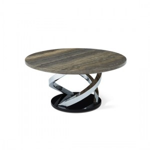 Pandora Marble Effect Top Coffee Table With Chrome Base