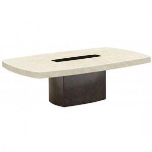Panjin Marble Coffee Table In Stone And Lacquer