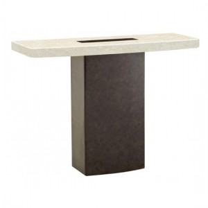 Panjin Marble Console Table In Natural Stone