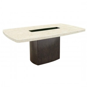 Panjin Natural Stone Marble Dining Table In Lacquer