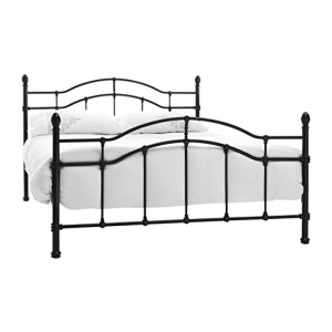 Paris Metal King Size Bed In Black