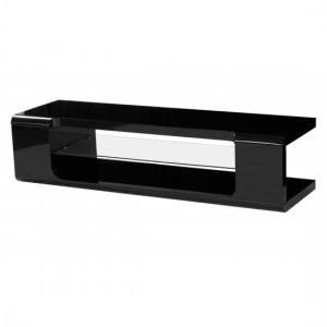Parker Wooden TV Stand In Black High Gloss