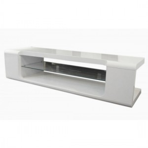 Parker Wooden TV Stand In White High Gloss