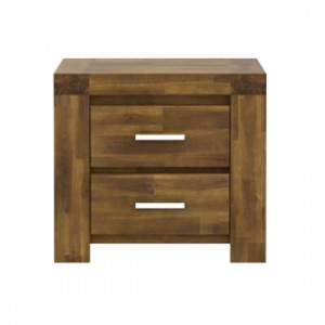 Parkfield Bedside Cabinet In Acacia Brushed Effect With 2 Drawers