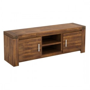 Parkfield Wooden TV Stand In Acacia With 2 Doors
