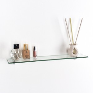 Pearl Large Glass Wall Shelf In Clear