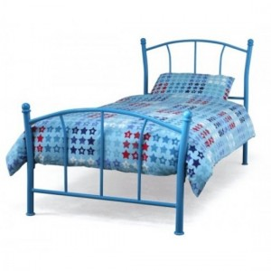 Penny Metal Single Bed In Blue