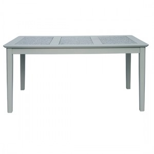 Perth Large Natural Stone Top Dining Table In Grey