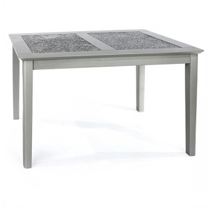 Perth Small Natural Stone Top Dining Table In Grey
