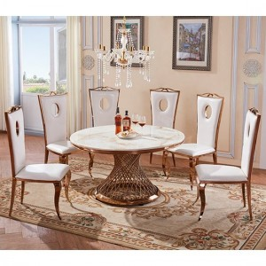 Pescara Oval Marble Dining Table In White With 6 Chairs
