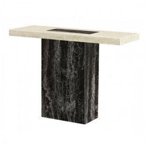 Petra Marble Console Table In Natural Stone