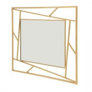 Phoenix Wall Mounted Mirror With Gold Frame