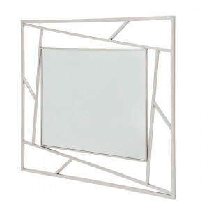 Phoenix Wall Mounted Mirror With Silver Frame