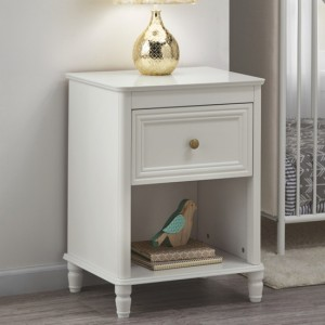 Piper Wooden Bedside Table In Cream With 1 Drawer