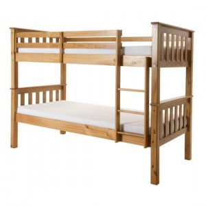Porto Wooden Bunk Bed In Pine